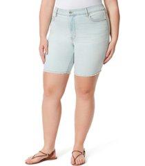 jessica simpson trendy plus size adored slim bermuda shorts
