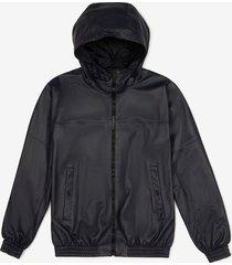 hooded reversible nappa jacket blue 48