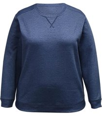 karen scott plus size crewneck sweatshirt, created for macy's