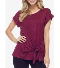 fever women's tie front top