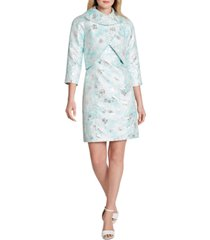 tahari asl metallic jacquard dress suit