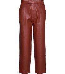 day pigeon leather leggings/broek rood day birger et mikkelsen