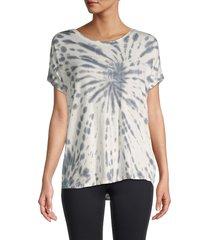 marc new york performance women's tie dye active t-shirt - overcast grey - size l