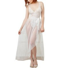 dreamgirl women's lace teddy and matching sheer wraparound skirt