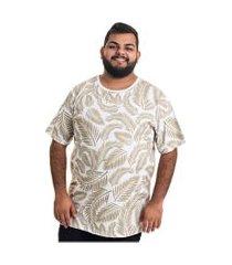 camiseta decoy plus size masculino estampada verde