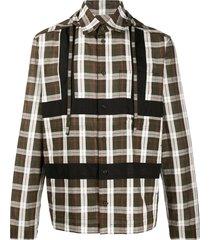 craig green hooded checked print shirt