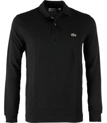 lacoste polo l.m. regular fit zwart l1312/031