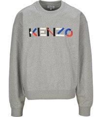 kenzo logo oversized multicoloured sweatshirt
