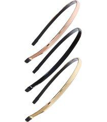tasha 2-pack skinny headbands, size one size - black