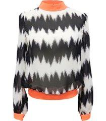 blusa zigzag aberturas naranjo nicopoly