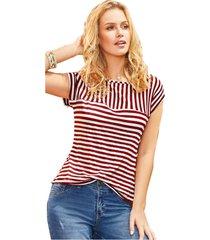 blusa adulto femenino bicolor rayas marketing  personal