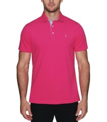 tailorbyrd men's classic polo with contrast pattern