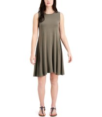 style & co petite sleeveless mini dress, created for macy's