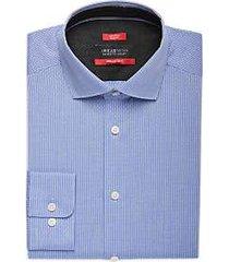 awearness kenneth cole awear-tech blue stripe slim fit dress shirt