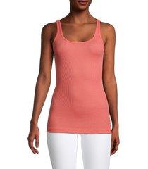 vince women's favorite pima cotton-blend tank top - watermelon - size xs