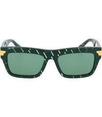bottega veneta bottega veneta bv1058s green sunglasses