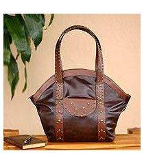 leather handbag, 'andean chic' (peru)