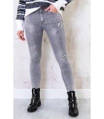 skinny high waisted jeans grijs