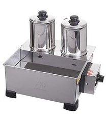 esterilizador de café 2 bules com termostato inox marchesoni