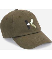 kenzo men's k-logo cap - stone grey