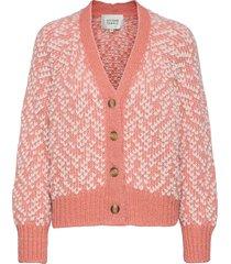 barock knit cardigan stickad tröja cardigan rosa second female