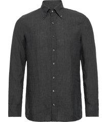 harry 3 slim shirt wash overhemd casual grijs oscar jacobson