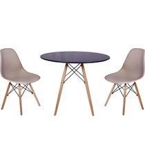 conjunto mesa de jantar impã©rio brazil - incolor/ - dafiti