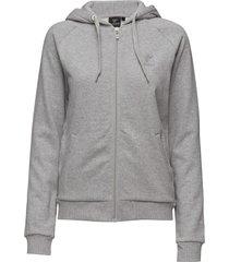 classic bee wo zen zip jacket hoodie trui grijs hummel