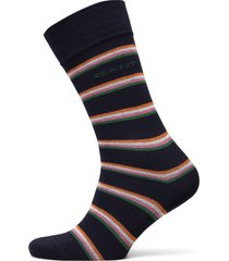 d1. 1 pack multi stripe underwear socks regular socks blå gant