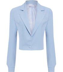 casaqueto feminino crepe - azul