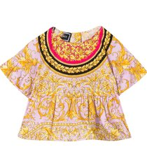 young versace blouse with baroque press