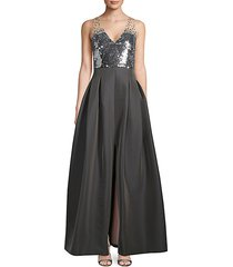 sequin sleeveless gown
