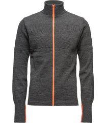 100% wool klemens zip kontrast gebreide trui cardigan grijs mads nørgaard