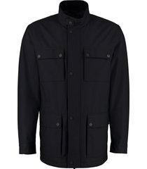 z zegna jacket with zip and button fastening