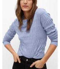 mango women's ruched detail sweater