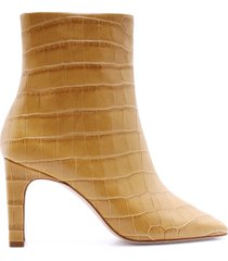 marion bootie - 11 straw crocodile effect leather