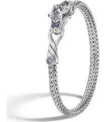 legends naga' sapphire silver woven chain bracelet