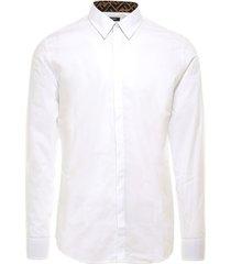 fendi camicia r hita cotton ff silk shirt