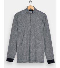 mens grey gray herringbone 1/4 sweatshirt