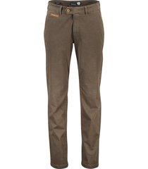 gardeur benny-3 pantalon flatfront legergroen