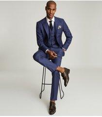 reiss christopher - wool slim fit pants in, mens, size 38