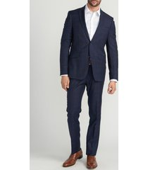 traje formal cuadros azul oscuro perry ellis