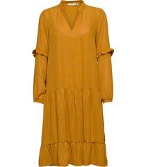 nubardot dress knälång klänning gul nümph
