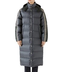 men's gucci gg jacquard quilted down nylon coat
