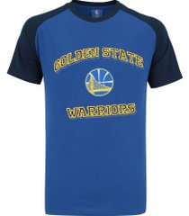 camiseta nba golden state warriors 17 bordado - masculina - azul/azul esc