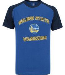 camiseta nba golden state warriors 17 bordado - masculina - azul/azul esc