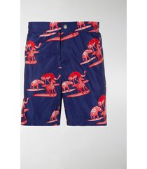 moncler genius x 1952 animals-print swim shorts