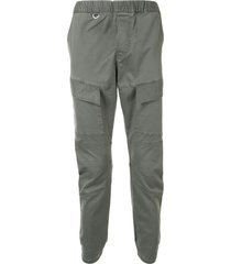 sophnet. slip-on slim-fit trousers - grey