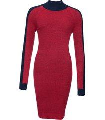 abito in maglia color block (rosso) - rainbow