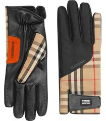 burberry vintage check gloves - neutrals